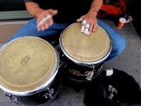 drum-man-out-on-da-main-street-four-bucks-in-da-can-ben